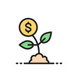 money tree save money invest flat color vector image