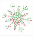 New Year snowflake filled by little colored stars vector image