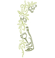 Olive vine decoration vector image vector image