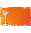 orange martini banner vector image vector image