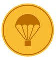 parachute gold coin vector image vector image