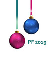 pf 2019 christmas greeting card design element vector image vector image