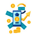 phone and money vector image vector image