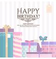 pile of gift boxes for your birthday or christmas vector image