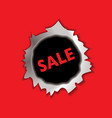 sale bullet hole vector image