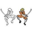 samurai attack vector image vector image