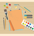 school accessories for art vector image vector image