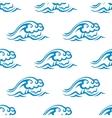 seamless pattern blue sea waves vector image