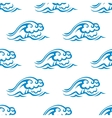Seamless pattern of blue sea waves vector image vector image