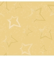 Seamless pattern with brush painted stars vector image vector image