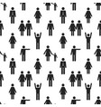 seamless pattern with people icons vector image vector image