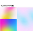 set of abstract blurred background design vector image