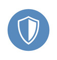 shield icon in blue circle vector image vector image