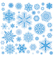 Snowflakes christmas icons vector | Price: 1 Credit (USD $1)