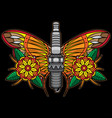 spark plug flash tattoo vector image