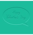 Speech bubble Flat design Happy Valentines Day vector image
