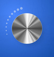 Stainless Chrome Volume Button vector image