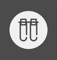 test tube icon sign symbol vector image vector image