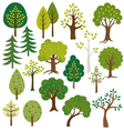 trees clipart vector image vector image