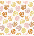 trendy seamless pattern with monstera leaves vector image