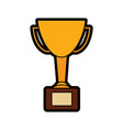 trophy award winner prize pedestal icon vector image vector image