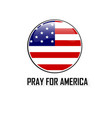 usa flag circle bubbles of american for praying ve vector image vector image
