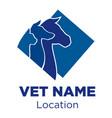 vet logo vector image vector image