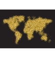 world map dot halftone dotwork vector image