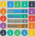Zipper Icon sign Set of twenty colored flat round vector image vector image