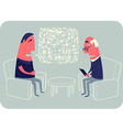 Psychotherapist And Patient vector image