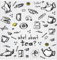 Tea set elements vector image