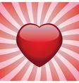 heart on retro background vector image