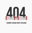 page with a 404 error vector image