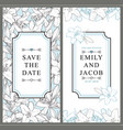 two wedding invitation templates with white lilies vector image