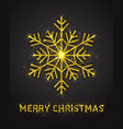 3d merry christmas poster vector image vector image