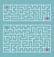 abstract complex rectangular isolated labyrinth vector image