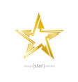 abstract golden star with arrows design element vector image