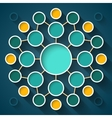 Abstract infographics symmetrical colorful circles vector image