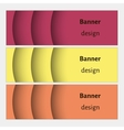 Abstract web banners set with curve elements and vector image vector image