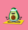 avocado doing stretching or yoga vector image