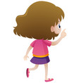 back of little girl in pink shirt vector image