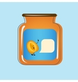 Bank with home canned peaches design vector image