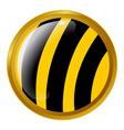 bee button vector image vector image