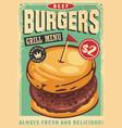 beef burger graphic