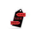 black friday sale price tag on a white background vector image vector image