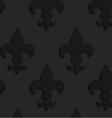 Black textured plastic solid Fleur-de-lis vector image vector image