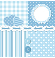 Blue scrapbook set vector image vector image