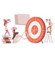 business goal target metaphor career goal vector image vector image