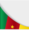 cameroon flag background vector image vector image
