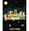 cape town south africa vector image vector image
